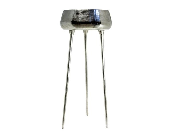 Colmore Metall Vase  3er Standfuss  58x58x132cm Silber