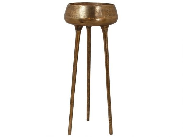 Colmore Metall Vase 3er Standfuss Gold  42x42x110cm