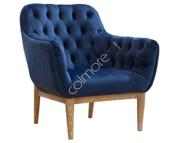 Colmore Sessel Navyblau Chesterfield