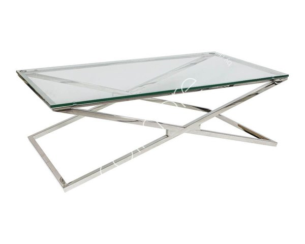 Colmore Couchtisch  Glas Chrome 130x70cm