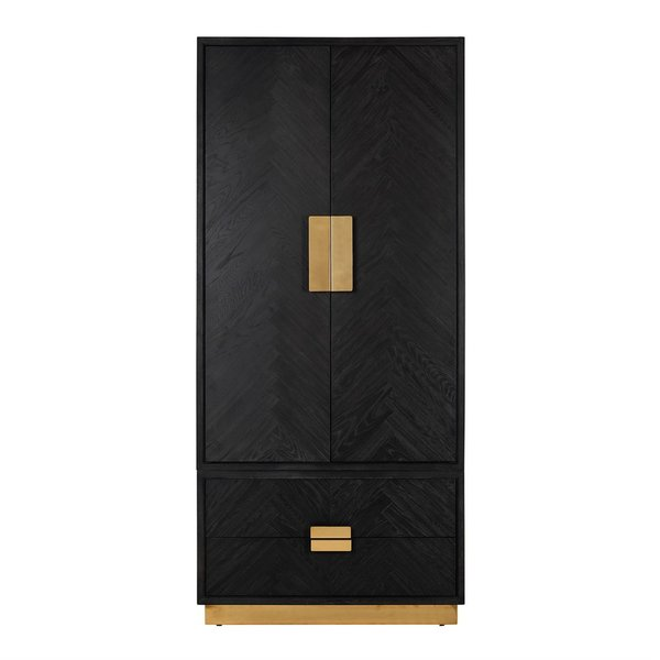Richmond Interiors Kleiderschrank  Blackbone Gold 220x100cm